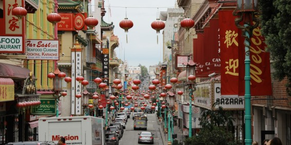 Chinatown in Red