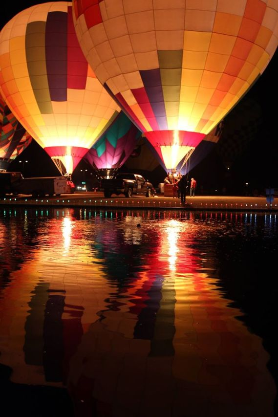 Hot Air Balloons Light Up the Night